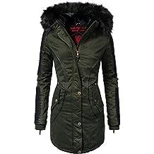 Marikoo Damen Winter Mantel Parka Larissa 9 Farben XS-XXL 42b003f50a
