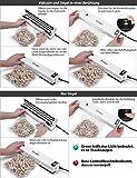 Vakuumiergerät,Ymiko Mini Vakuumierer,Lebensmittel bleiben bis zu 8x länger Frisch,30cm lange Schweißnaht,einfach zu bedienen,inkl.20 gratis Profi-Folienbeutel,Schwarz-Weiß - 6