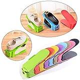 Shoe Slots Organizer,Hunpta 1/6/8/10 PC Verstellbarer Schuhstapler Schuhhalter Sparset für 1/6/8/10 Paar Schuhe (Sky Blue)