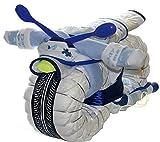 Windelmotorrad Jungen ROCKSTAR blau - Windeltorte Motorrad für Junge - Baby Geschenk zur Geburt dubistda