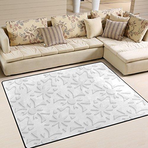 Weiße Blumen Bereich Teppich (ingbags Super Soft weiß Modern Blumen 3D Abstrakt, ein Wohnzimmer Teppiche Teppich Schlafzimmer Teppich für Kinder Play massiv Home Decorator Boden Teppich und Teppiche 160x 121,9cm, multi, 80 x 58 Inch)