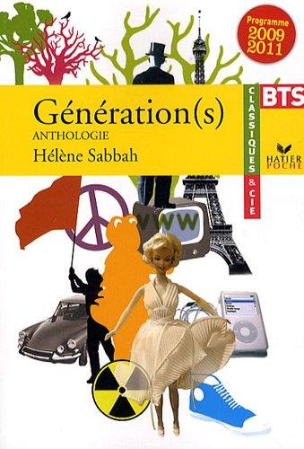 Génération(s) : Anthologie BTS, Programme 2009 / 2011