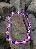 designed by KnaulY EM-Keramik Kette/Zeckenschut für Hunde gegen Zecken Größe entscheiden Sie blau/rosa/weis