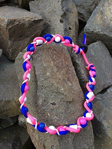 Preisvergleich Produktbild designed by KnaulY EM-Keramik Kette/Zeckenschut für Hunde gegen Zecken Größe entscheiden Sie blau/rosa/weis