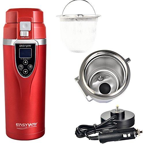 Taza térmica inteligente para café. Termo eléctrico para coche