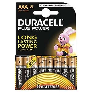 Duracell Plus Power Typ AAA Alkaline Batterien, 8er Pack