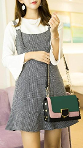 6ad1f95ee547d Damen Kette Tasche Schultertasche Umhängetasche Mode Elegant Vintage Kleine  Handtaschen Mini Black Bag Green ...