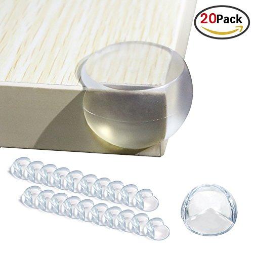 marbeine 20teilig Scheinbein Tischecke für Schutz von Babys Sicherheit, dighealth Kinder schützt Winkel von Tisch, Displayschutzfolien der Kanten, Schutz Tischecke Glas-Waschtisch, transparent