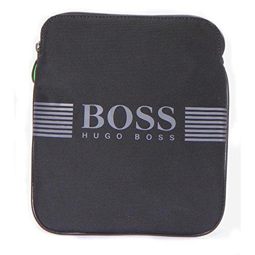 Hugo Boss Maschi Pixel_S zip env 100% poliammide Borse Nero