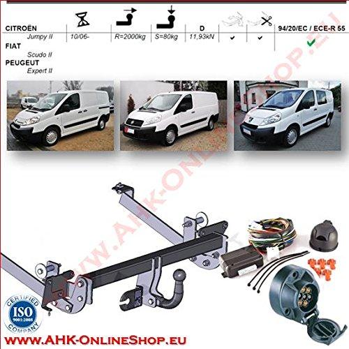 AHK Anhängerkupplung mit Elektrosatz 13 polig für Citroen C-4 Picasso / Grand Picasso 2007- Anhängevorrichtung Hängevorrichtung - starr, mit angeschraubtem Kugelkopf