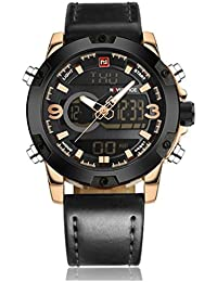 Naviforce-NF9097-B Black Analog-Digital Chronograph Watch For-Men