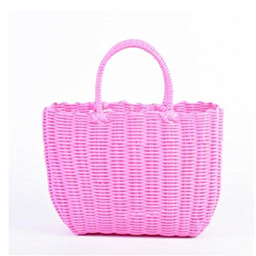hopper geflochten aus Kunststoff Eingebaut, a, pink size ()