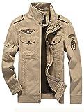 MatchLife Homme Nouveau Militaire Style Automne Veste Manteau Kaki 2XL