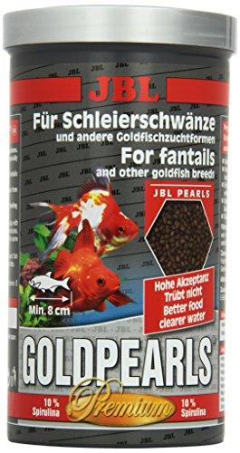 JBL GoldPearls 40636 Premium Alleinfutter für Schleierschwänze, Nachfülldose Granulat 1 l