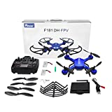 RC Quadrocopter Potensic Drohne mit 5.8GHz 6-Achsen-Gyro 2MP HD Karmera FPV Monitor Video Live Übertragung 3D Flip Funktion- Blau - 7