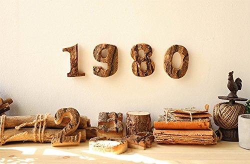 Lettere Di Legno Da Appendere : Outflower lettere e numeri in legno da appendere al muro vintage