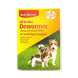 Bob Martin All In One Dewormer Tablets for Small Dogs & Puppies 40g - Bulk Deal of 6x