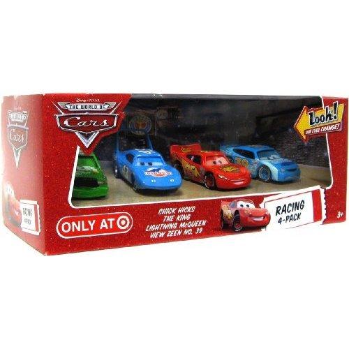 Preisvergleich Produktbild Disney / Pixar CARS Movie Exclusive 1:55 Die Cast Car with Lenticular Eyes Racing 4-Pack [Chick Hicks, The King, Lightning McQueen & View Zeen No. 39]