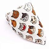Accessori per Animali Domestici Ciondolo Gatto Cane Collare Shiba Giapponese tovagliolo Inu Jin MAO Akita Cane Sciarpa Triangolo (S)
