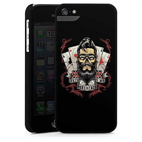 Apple iPhone X Silikon Hülle Case Schutzhülle Pokerface Spruch Poker Premium Case StandUp