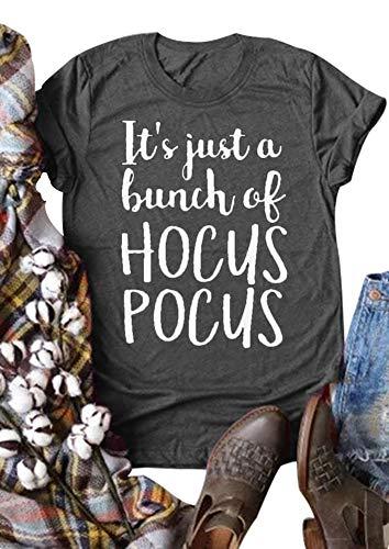 T-Shirt für Halloween, kurzärmelig, Rundhalsausschnitt, Aufschrift