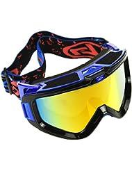 Gafas de snowboard de esquí con 100% UV400 protection, OMorc doble espejo antivaho antifricción y desmontable,ajustable,diseño esférico gran campo de visión