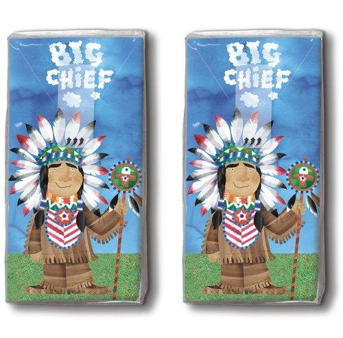 2x 10 Taschentücher Big Chief - Großer Häuptling / Indianer / Motivtaschentücher