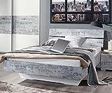 A0336.70T4.20 Sumatra Weiß / Vintage grau Jugendbett Futonbett Gästebett Bett...