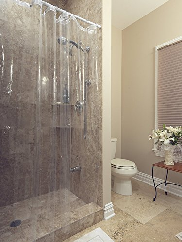 Casamode Functional Furniture Klar Kunststoff Dusche Vorhang Liner-robust (182,9x 182,9cm) - Liner Vorhang Dusche Klar