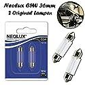 2x Neolux C5W 36mm 12V N239-02B Standard Ersatz Halogen Soffitte Lampe für Innenbeleuchtung - Kofferraum Handschuhfach Kennzeichen Tür Fußraum Leselampen Lizenz - E-geprüft
