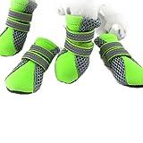 vitalite-breathable Neopren Pet Hund Schuhe Stiefel Bright Farbe mit Reflektierende Klettverschluss