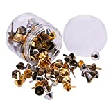 PandaHall Elite - 120 Pcs 3 Couleurs Sac à Main Pieds Cone Studs Clous en Alliage...