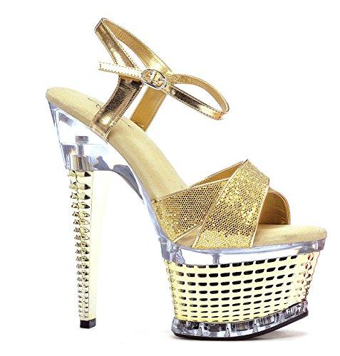 Ellie Shoes Damen Sandalen Schwarz Rot Glitter (Glitter Sandal Rote)