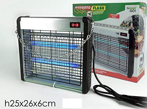 Lampada insetticida zanzariera 16 Watt elettrica anti stermina zanzare insetti