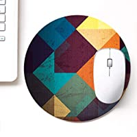 DASM United UVDesigner Printed Round Mouse Pad for Laptop n Computer | Dirty Blocks | Mousepad for Gamers | Gaming Mousepad