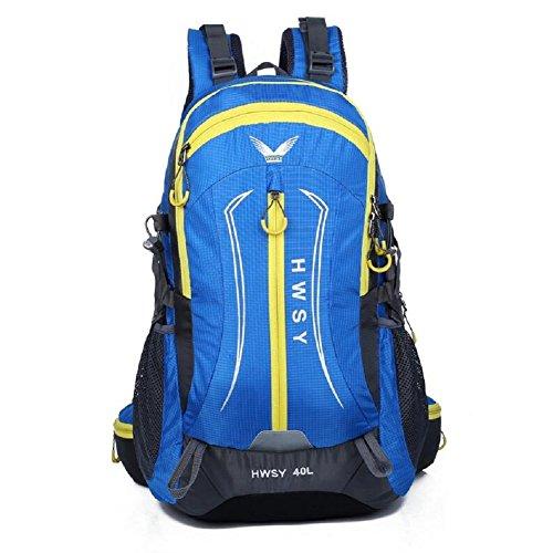 LJ&L Outdoor Bergsteigen Tasche, 36-55 Liter große Kapazität wasserdicht Wanderrucksack, Spleißen Farbe, Nylon praktisch tragbaren Rucksack E