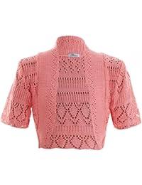Las niñas Bolero Crochet de Punto Cardigan Kids encoge de hombros top edad 2–13años