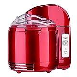 Decdeal Parytretro - 2en1 Yogurtera Heladera Eléctrica, Color Rojo Metálico, Estilo Vintage (Capacidad 1,2L Yogur/1,5L Helado)