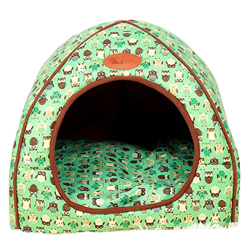 Haustier Nest Luxus Abnehmbare Weiche Gemütliche Welpen Kätzchen Bett Warme Haus Zelt Waschbar Faltbare Hund & Katze Winter Bett Grün XL -