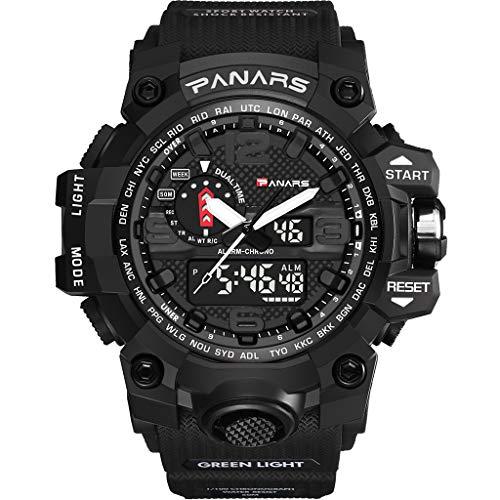 YEARNLY Herren Uhren Herren Quarts Uhr Mode analog Legierung Armbanduhr geschäft beiläufig Bralette Uhr Geschenk rundes zifferblatt Camouflage-Uhr -