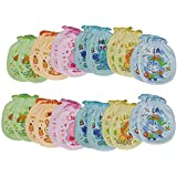 EIO® Multi Color Printed Mittens For New Born (PACK OF 12 PAIRS)