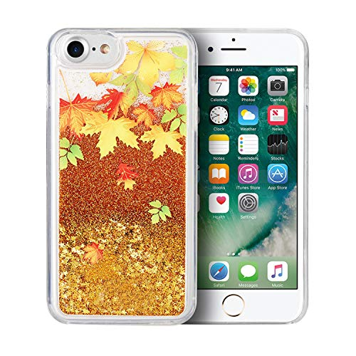 Schutz Cascading Liquid Glitter Wasserfall iPhone 8/7Fall, Autumn Leaves