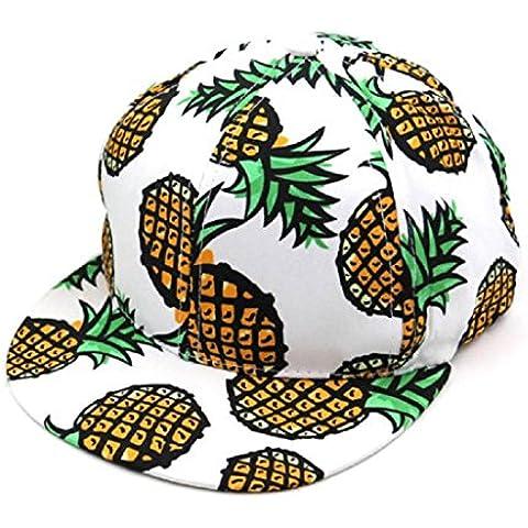 Gorros Sannysis Sombrero de Hip Hop, Hiphop Ojo Cap ajustable, piña Impreso (Blanco)