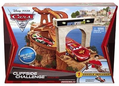Mattel V2868 Disney Cars 2 - Pista en el acantilado de Mattel