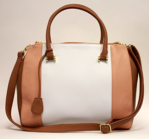 Other, Borsa a spalla donna large Nude/White