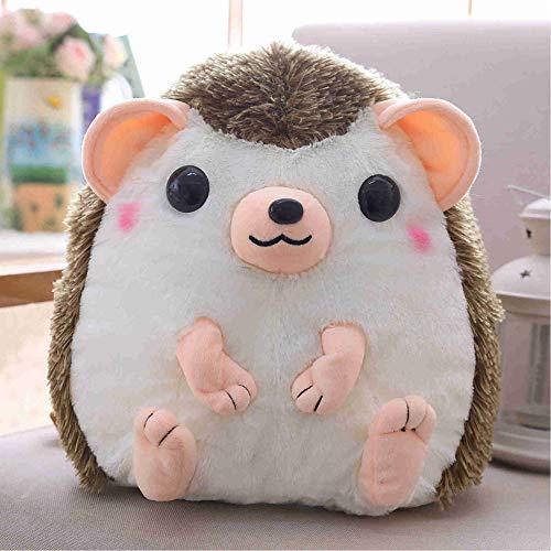 lzpoyaya Cartoon Brown Hedgehog weichen Rucksack Plüschtier, Stofftier Igel Schultasche, Baumwollspielzeug für Kinder Geschenk Geburtstag 30x28cm