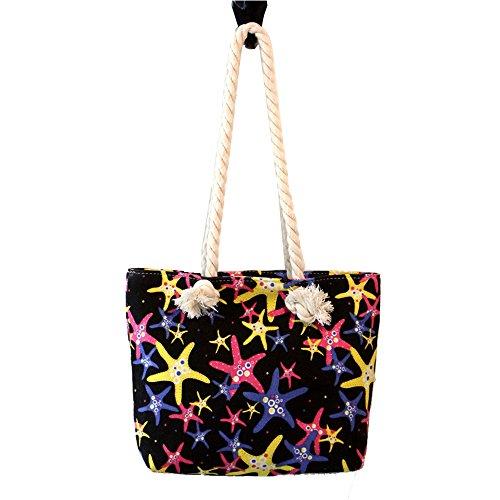 Anne, Borsa a spalla donna nero Starfish blue Starfish black