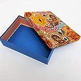 Floral Blumen Blaue Geschenkbox Schachtel mit Glitzern