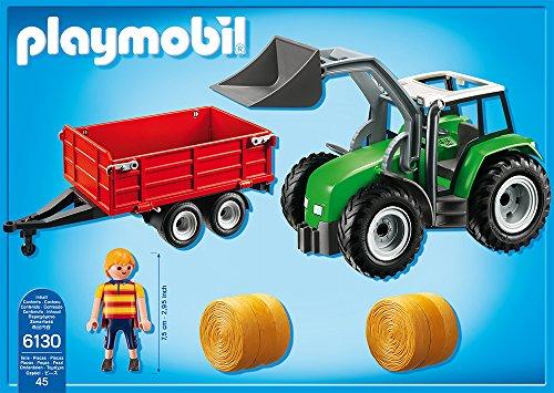 PLAYMOBIL Traktor 6130 – Großer Traktor mit Anhänger - 3