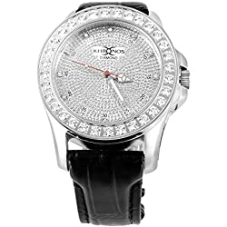 Schraube auf Iced Out 1 Zeile Lünette Khronos Joe Rodeo Jojino Genuine Diamond Watch New